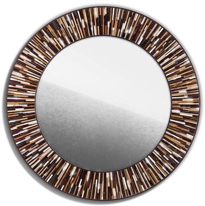 Contemporary Brown Light Mirror Roulette