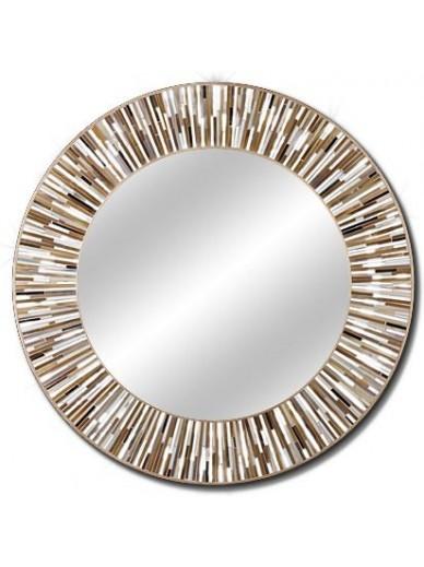 Contemporary round mirrors roulette beige piaggi store Modern round mirror