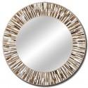 Roulette Beige Round Mirror
