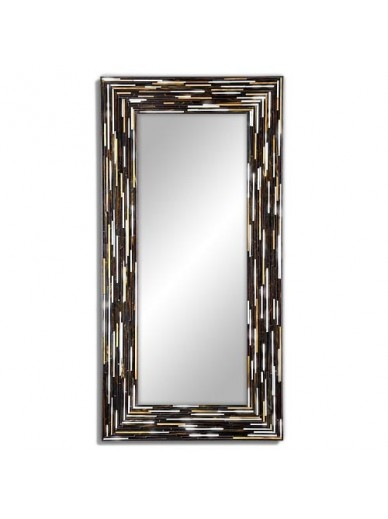Big Q Dark Modern Mirror Piaggi Contemporary Mirrors Store