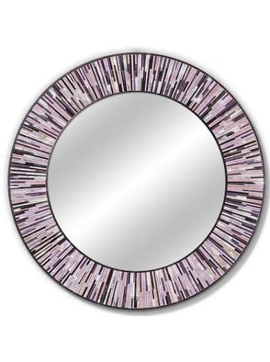 Roulette Pink Round Mirror