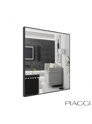 Poppy Silver Square Mirror
